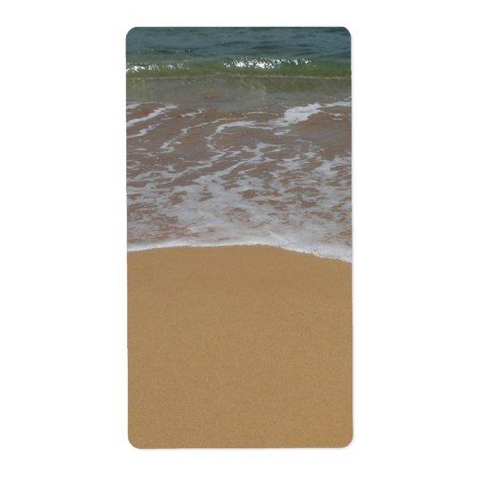 Étiquette plage de sable de mariage de destination