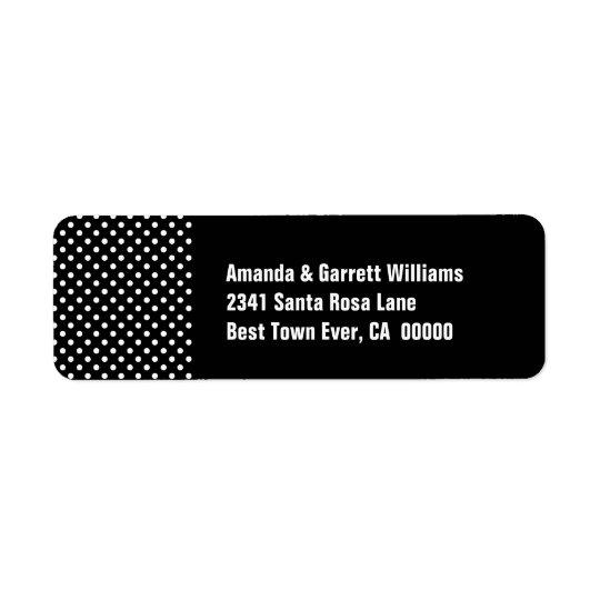 Étiquette Pois noir et blanc LA01