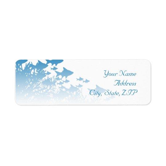 Étiquette Poissons et corail bleus