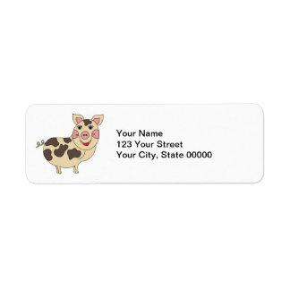 Étiquette Porc lunatique personnalisé