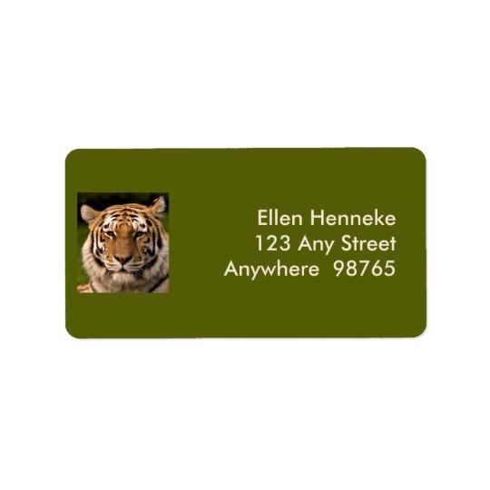 Étiquette Portrait de tigre de Sumatran