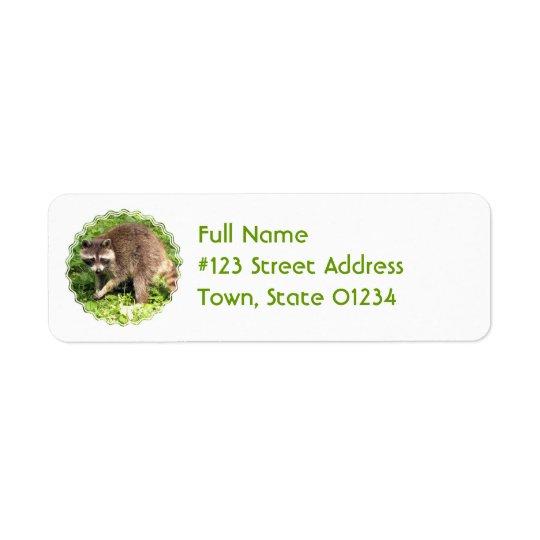 Étiquette postale d'adresse de retour de raton