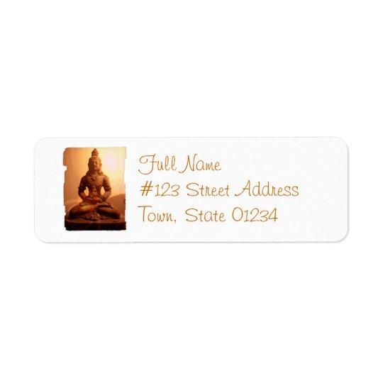 Étiquette postale de bouddhisme