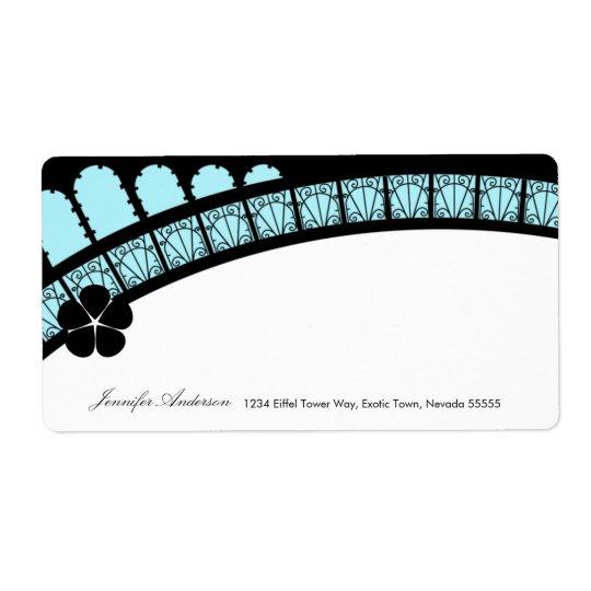 Étiquette postale de voûte de Tour Eiffel