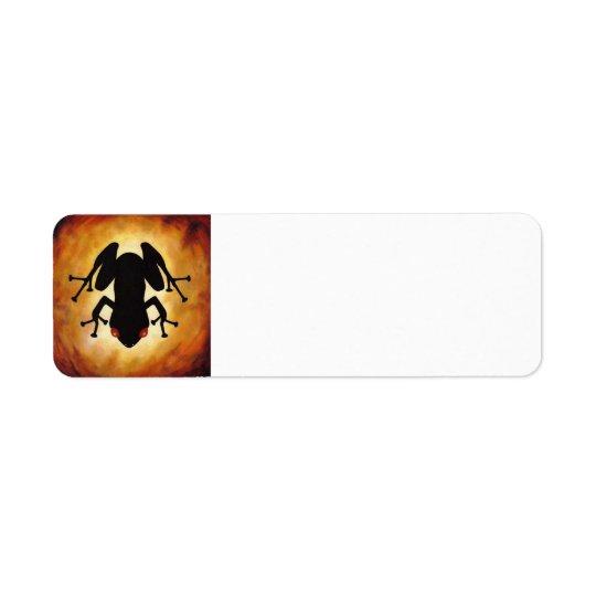 Étiquette postale d'icône de Coqui