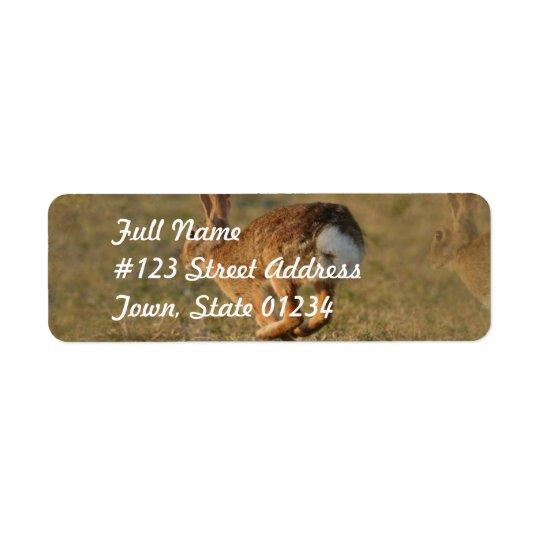 Étiquette postale sautante à cloche-pied d'adresse