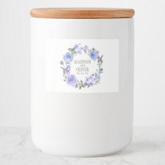 Étiquette Pour Bocaux Aquarelle pourpre en pastel | floral épousant