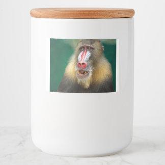 Étiquette Pour Bocaux babouin