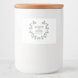 Étiquette Pour Bocaux Cadre | de feuille d'eucalyptus d'aquarelle