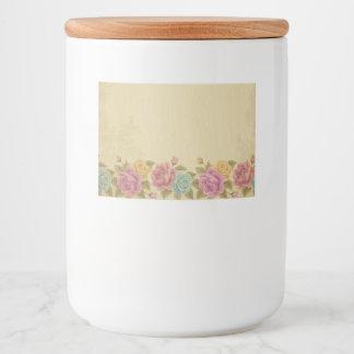 Étiquette Pour Bocaux chic rustique et minable, floral, roses,