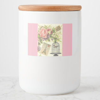 Étiquette Pour Bocaux Cru français rose Paris de thème