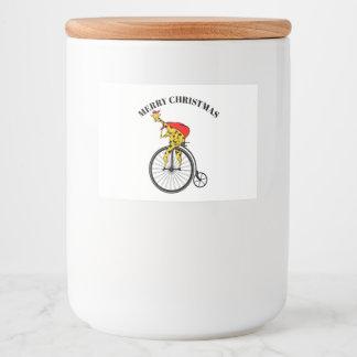 Étiquette Pour Bocaux Girafe sur Noël de vélo