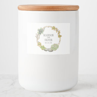 Étiquette Pour Bocaux Guirlande des Succulents, des brindilles et des