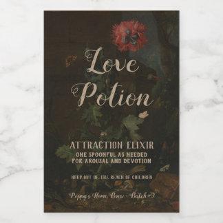 Étiquette Pour Bocaux Philtre d'amour vintage personnalisé de pot