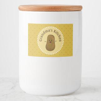 Étiquette Pour Bocaux Pomme de terre heureuse personnalisée