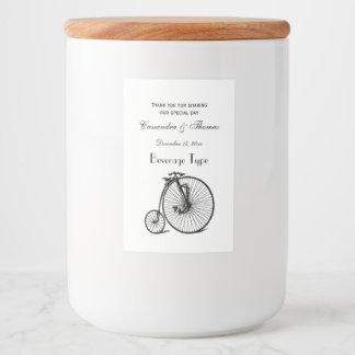 Étiquette Pour Bocaux Vélo vintage de bicyclette de vélo sur rail