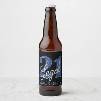 Étiquette Pour Bouteilles De Bière 21ème Partie juridique de noir de parties