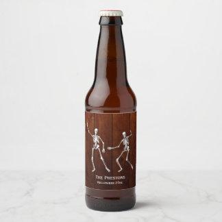 Étiquette Pour Bouteilles De Bière Bois d'étiquette de bière de Halloween de
