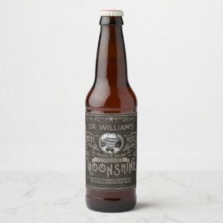 Étiquette Pour Bouteilles De Bière Coutume vintage Brown de médecine de montagnard