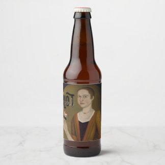 Étiquette Pour Bouteilles De Bière Fille de Grrrl d'émeute