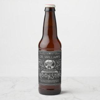Étiquette Pour Bouteilles De Bière Gris fait sur commande d'alcool illégal de
