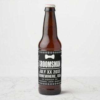 Étiquette Pour Bouteilles De Bière Groomsman fait sur commande