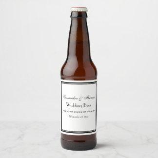 Étiquette Pour Bouteilles De Bière Le noir élégant a encadré l'étiquette de bouteille