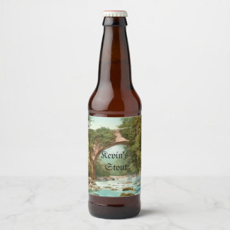 Étiquette Pour Bouteilles De Bière Le pont de Dargle en Irlande a personnalisé