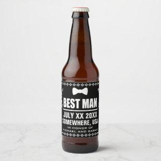 Étiquette Pour Bouteilles De Bière Meilleur homme fait sur commande