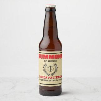 Étiquette Pour Bouteilles De Bière Partie de retraite de sommation