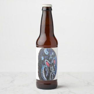 Étiquette Pour Bouteilles De Bière portrait de loup