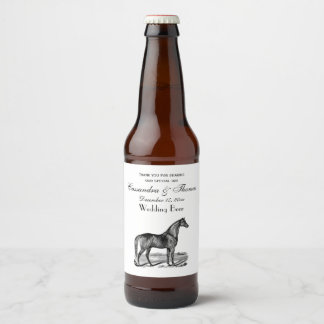 Étiquette Pour Bouteilles De Bière Position vintage de cheval