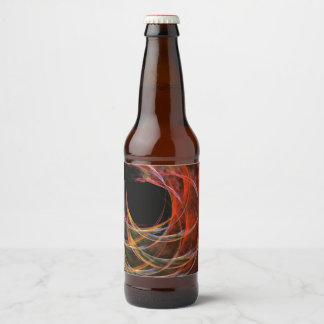 Étiquette Pour Bouteilles De Bière Rupture de l'art abstrait de cercle