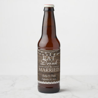 Étiquette Pour Bouteilles De Bière Souffle en bois de Babys de pot de maçon de