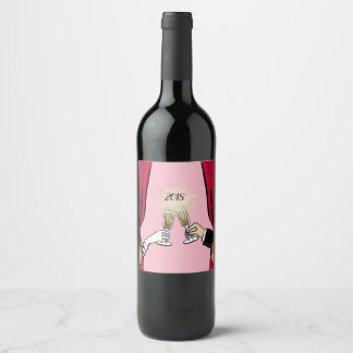 Étiquette Pour Bouteilles De Vin Acclamations 2018 !