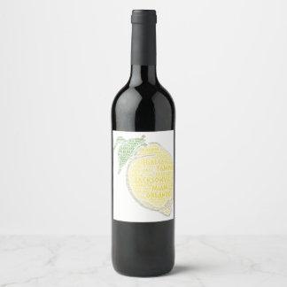 Étiquette Pour Bouteilles De Vin Agrume illustré avec des villes de l'état USA de
