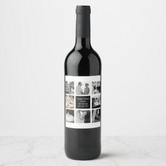 Étiquette Pour Bouteilles De Vin Anniversaire de renouvellement de voeu de mariage
