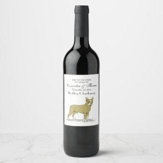 Étiquette Pour Bouteilles De Vin Bouledogue français stylisé C de cru