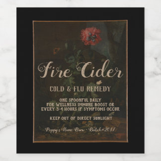 Étiquette Pour Bouteilles De Vin Cadeau vintage personnalisé de pot d'apothicaire