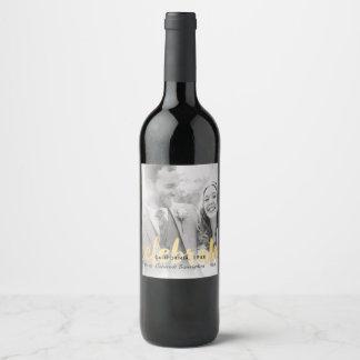 Étiquette Pour Bouteilles De Vin Célébrez le mariage ou l'anniversaire