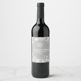 Étiquette Pour Bouteilles De Vin Chaud, hiver, souhaits, vacances