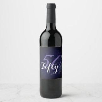 Étiquette Pour Bouteilles De Vin cinquantième Partie 50 et fabuleux ! Anniversaire