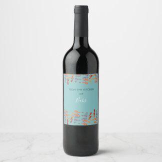 Étiquette Pour Bouteilles De Vin Confettis Cuatros (tp_bttm_desg)