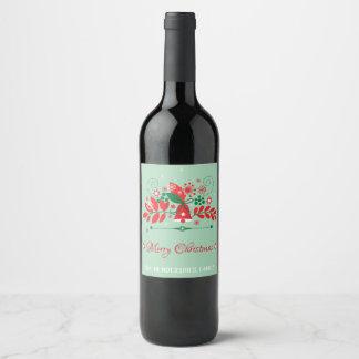 Étiquette Pour Bouteilles De Vin Décoration de Noël avec Bell