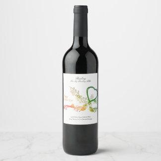 Étiquette Pour Bouteilles De Vin Édition personnalisée de heureuse Sainte-Valentin