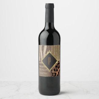 Étiquette Pour Bouteilles De Vin Étincelle moderne fascinante de jungle chic de