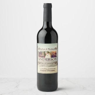 Étiquette Pour Bouteilles De Vin Faites à votre propre hanche le rétro collage de