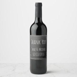 Étiquette Pour Bouteilles De Vin Faites votre propre Merci vintage sur le tableau