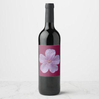 Étiquette Pour Bouteilles De Vin Géranium #1 de Pineywoods