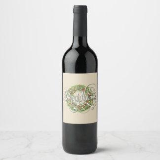 Étiquette Pour Bouteilles De Vin Guirlande de vacances